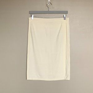 Orly cream knit pencil skirt size large